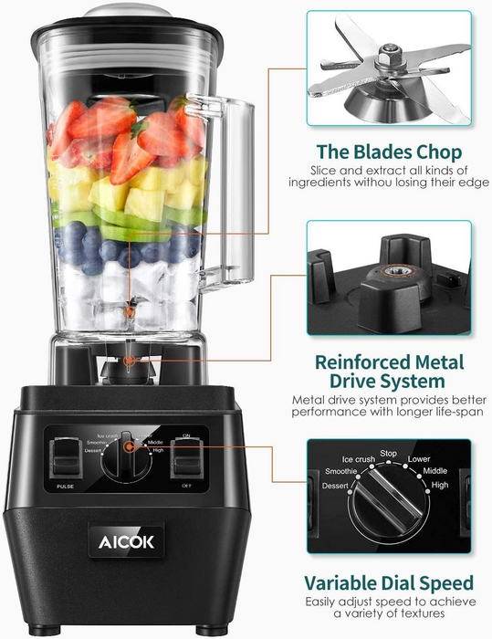 Big Professioinal Blender (BL1192) (Limit 1 per order)
