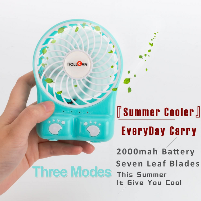 Rechargeable Desk Mini Fan (Blue)