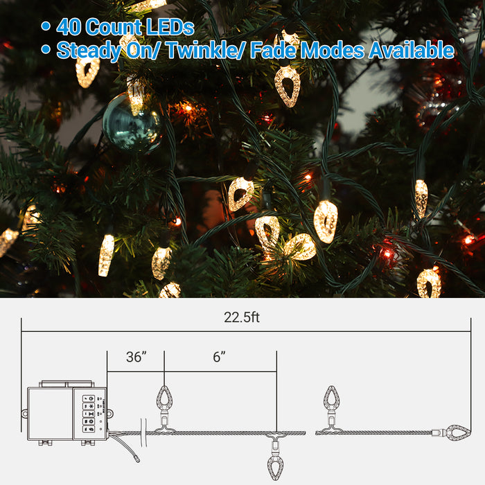 Battery Operated Christmas Light Warm White