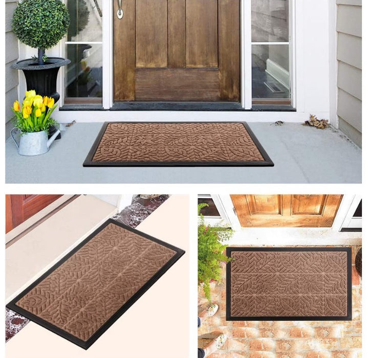Large Entrance Door Mat 24 x 36 inch (Brown)