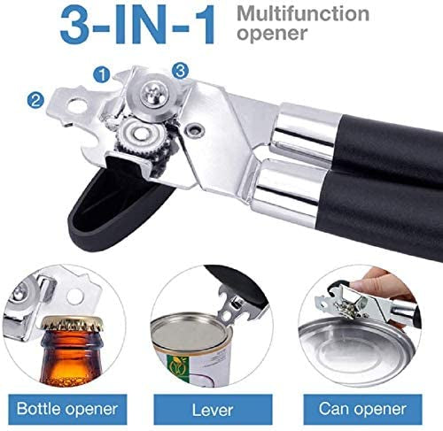 3 in 1 Stainless Steel Manual Can Opener