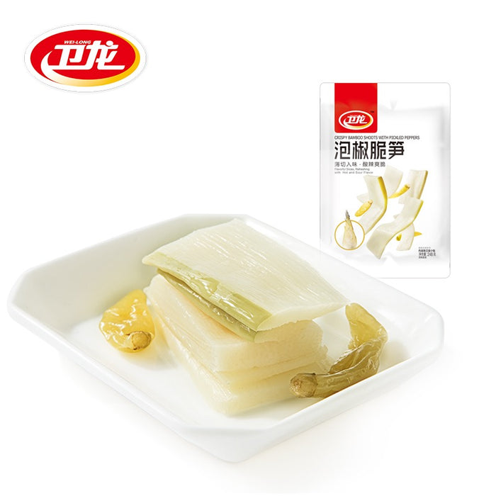 WEILONG Crispy Bamboo Shoots with Picked Peppers 248g