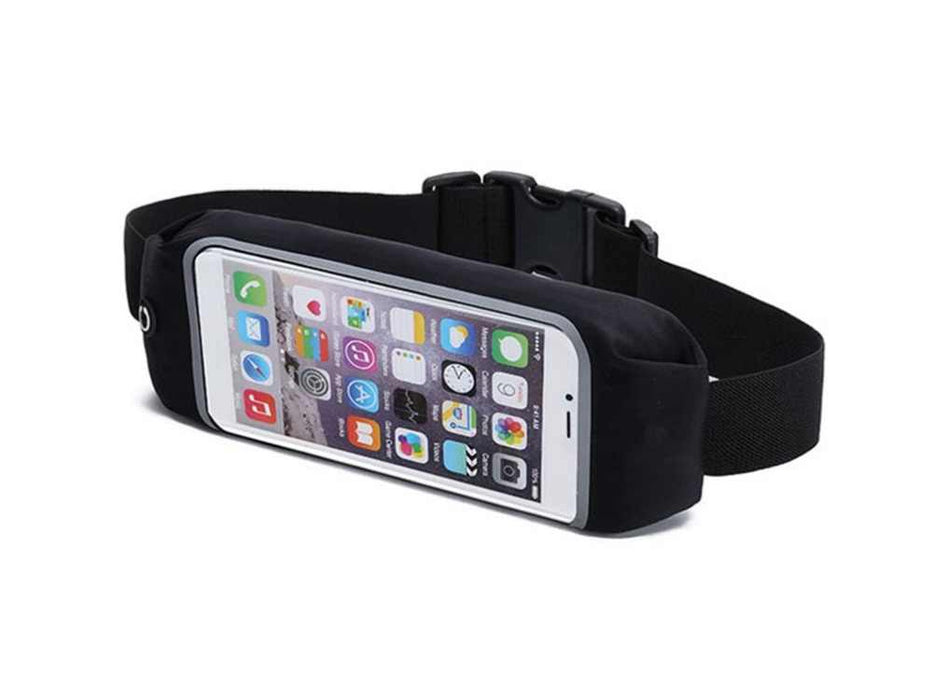 Waterproof Running Belt For iPhone Android Smart phone Sports Waist Bag Reflective Pouch Breathable Sport Waist Belt Elastic Adjustable Band - Pilemart