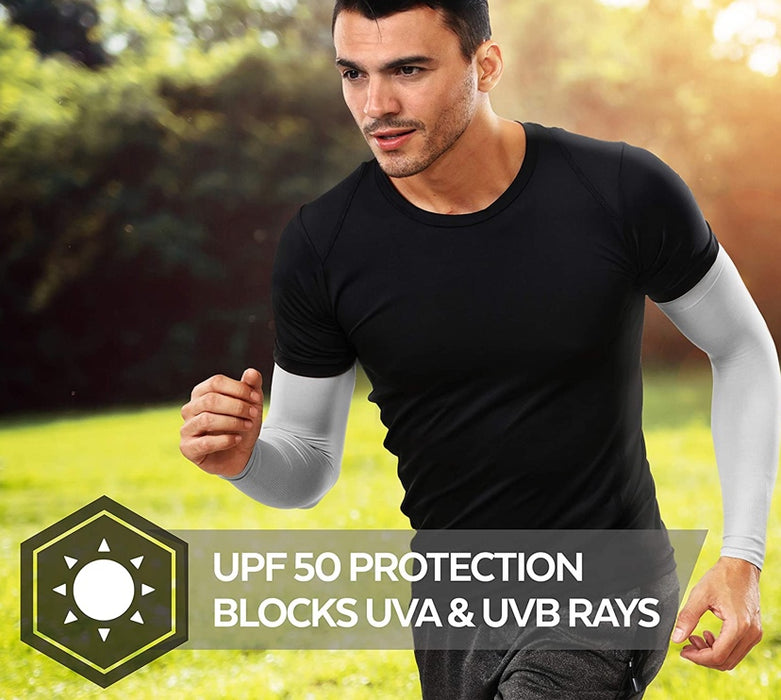 2 Pairs Sun Protection Compression Arm Cover