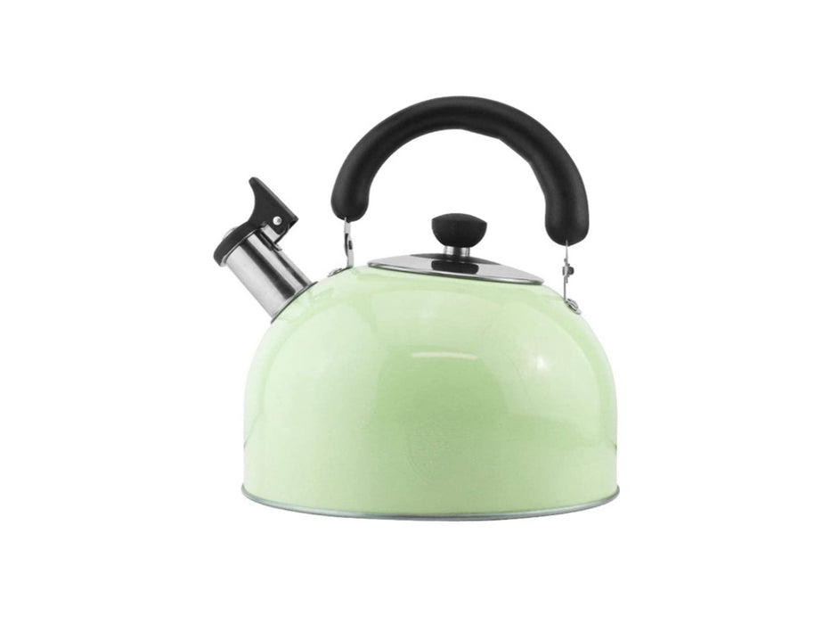 Stove Top Whistling Tea Kettle-Surgical Stainless Steel Teakettle Teapot with Cool Toch Ergonomic Handle1.6L(green) - Pilemart