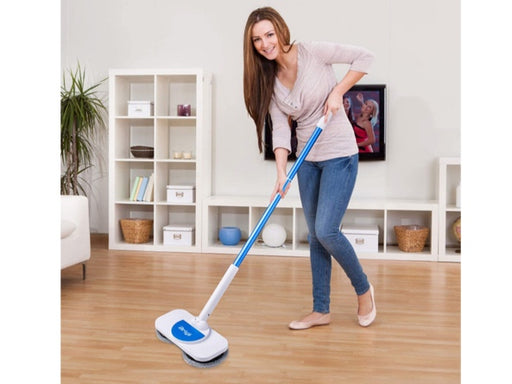 Electric Mop and Window Cleaner in One, 360 Rotation Cordless Mop for Hardwood,Vinyl,Tile,Laminate Floor Cleaning,Ligthweight Power Floor Polisher with Microfiber Cleaning Pads-X180 Blue - Pilemart