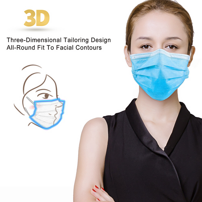 3-Ply Disposable Mask 50pcs (NO Return NO Exchange)