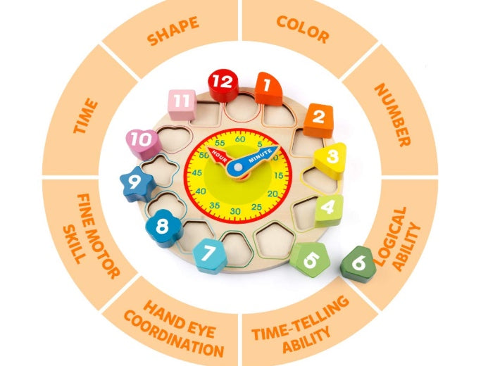 Teaching Time Number Blocks Puzzle