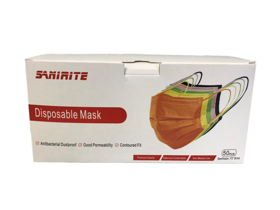 Disposable Mask 50 pcs MultiColor (No Return No exchange)