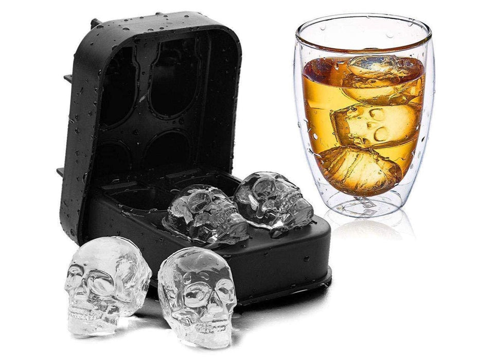 Skull Shape 3D Ice Cube Mold Tray
