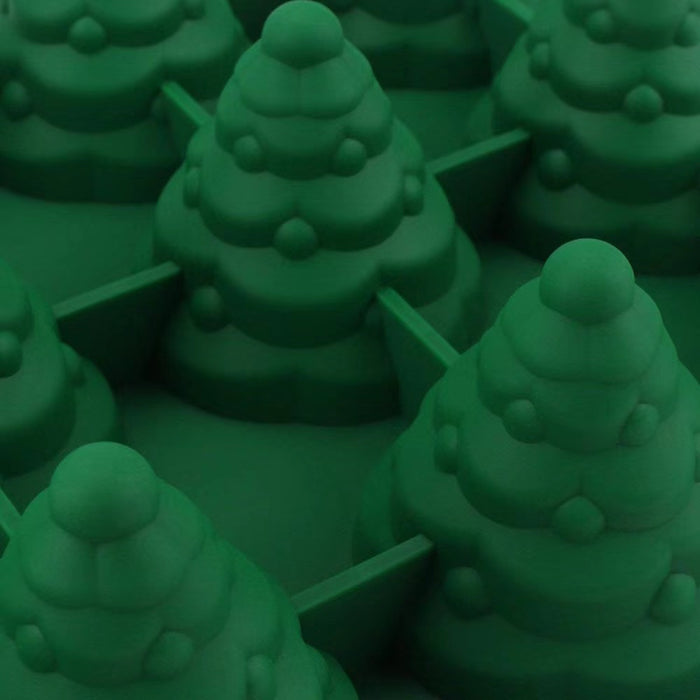 2 pcs DIY Christmas Tree Silicone Cake Molds