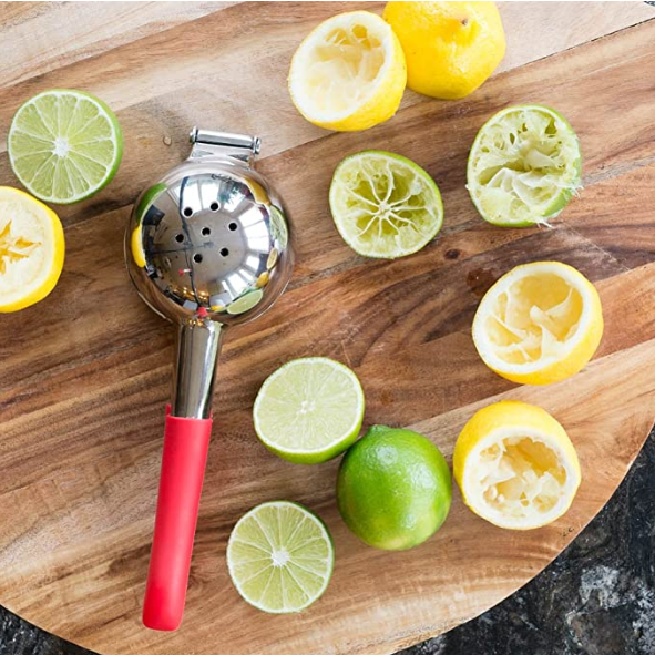Premium Quality Stainless Steel Lemon Squeezer with Silicone Handles - Pilemart
