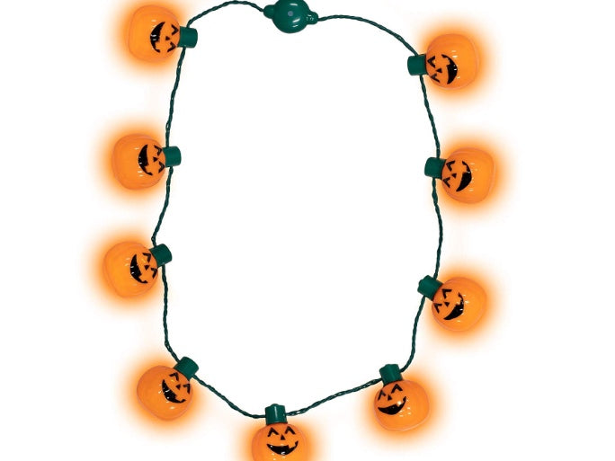 LED Halloween Pumpkin Necklace light