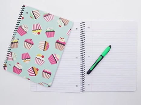 "Set of 6 pcs Spiral Notebooks, Notebook Wide Ruled Paper 10.5""x8"",70 Sheets - Pilemart"