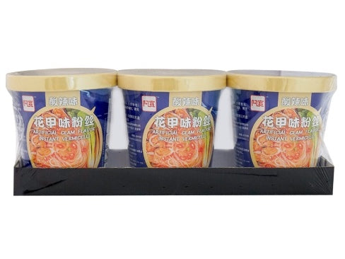 AKUAN Cup-hot Clam Flavor Instant Vermicelli/Pho 92g*3