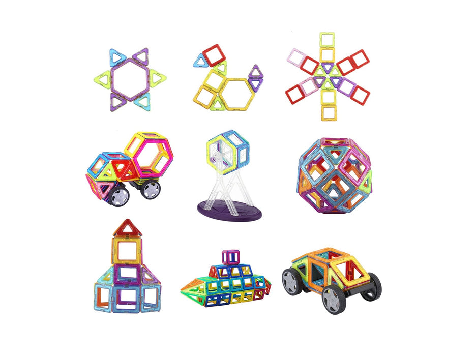 Magnetic 3D Building Blocks (92 PCS) Construction Playboards educational for kids/children of age 3+ - Pilemart