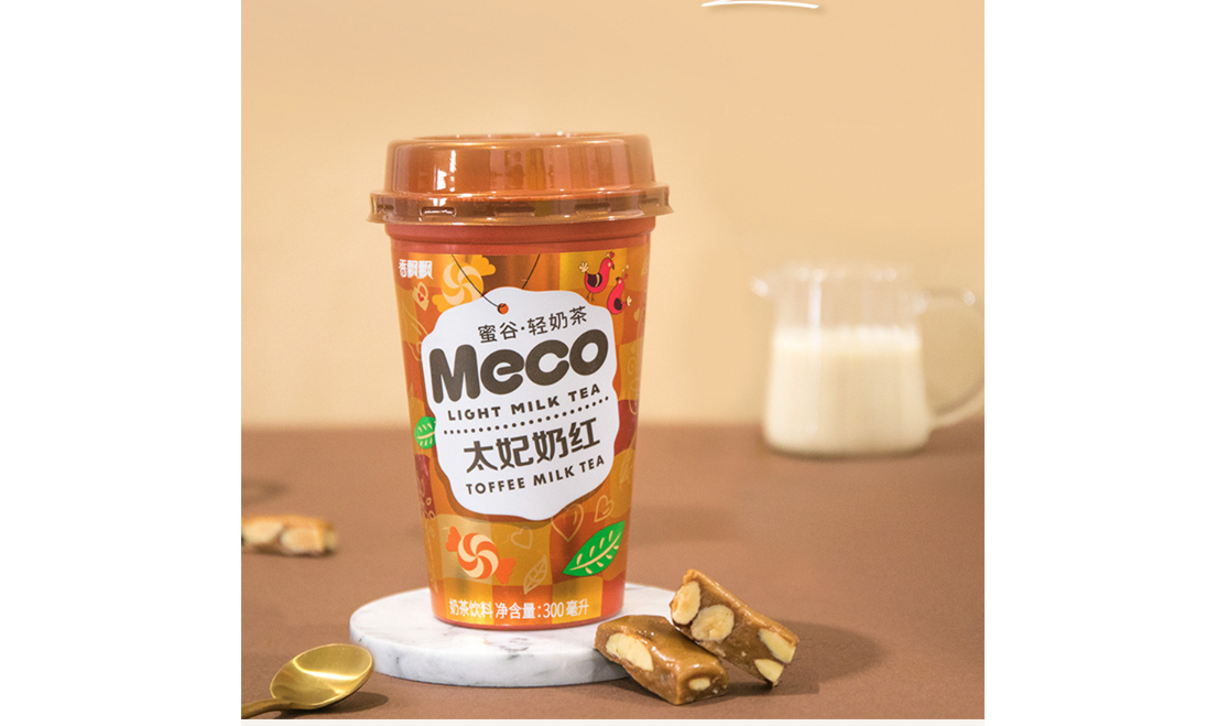 Meco Light Milk Tea 300ml (Toffee Milk Tea)