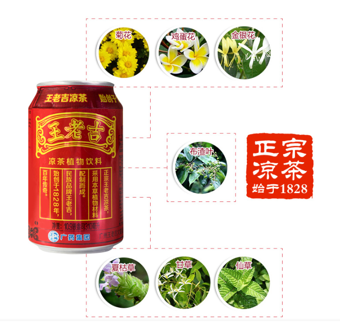 WANGLAOJI Herbal Beverage 310ml*6cans