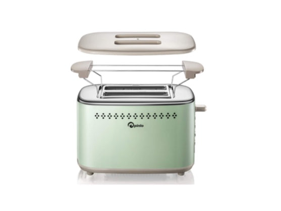Toaster 2-Slice Stainless Steel (Green) (Limit 2 per order)