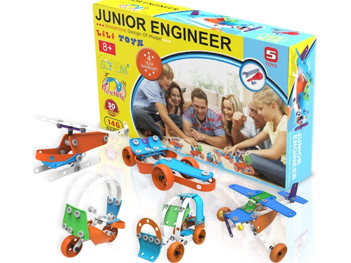 5-in-1 STEM Building Toys Set