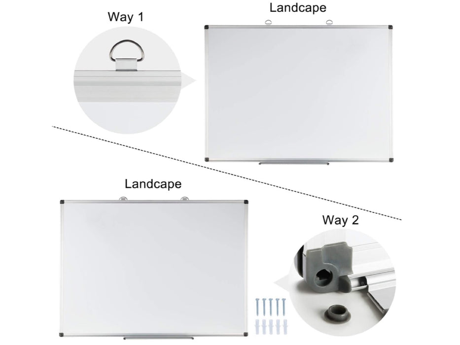 "Set of 2 Magnetic Dry Erase Whiteboard 24""*36"" ( Pick up only)"