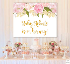 Backdrop Baby Shower, Backdrop Banner, Photobooth Backdrop Baby, Cake Table Backdrop, Baby Shower Sign Printable, Signage, Download, Custom