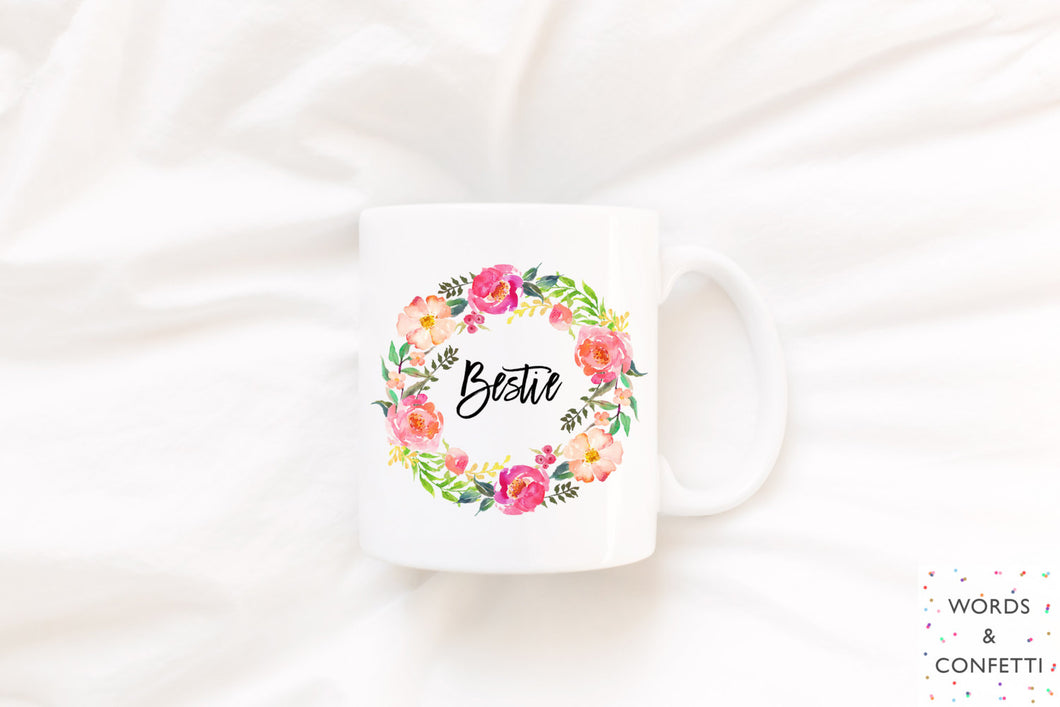 Bestie mug, Bestfriend mug, Best friend mug, Bestie gift, Bestie, Best friend coffee mug, Gift mug, Best friend tea mug, girly best friend