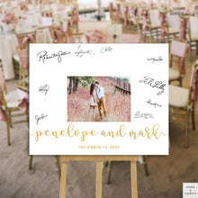 Load image into Gallery viewer, Guest Book Alternative Wedding, Guest Book Wedding, Guest Book Sign, Guestbook Printable, Wedding Signs Gold, Large, Photo Guest Book, PDF