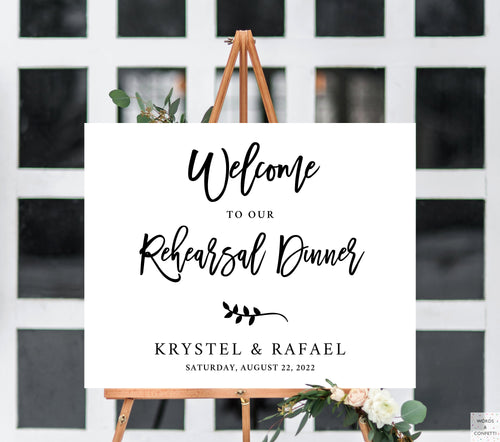 Wedding Rehearsal Dinner Welcome Sign, Rehearsal Dinner Decorations, Welcome Sign Rehearsal Dinner, Wedding Rehearsal Banner, Wedding Reception Decor Ideas