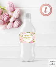 Load image into Gallery viewer, Water-Bottle-Labels-Baby-Shower-Girl