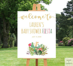 baby-shower-fiesta-decorations-succulent-words-and-confetti