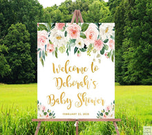 Load image into Gallery viewer, baby-shower-decorations-peach-cream-gold-partycity.com