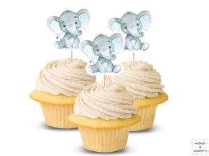 cake-toppers-elephant-blue-words-and-confetti-etsy
