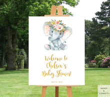 Load image into Gallery viewer, elephant-baby-shower-decorations-boy-words-confetti