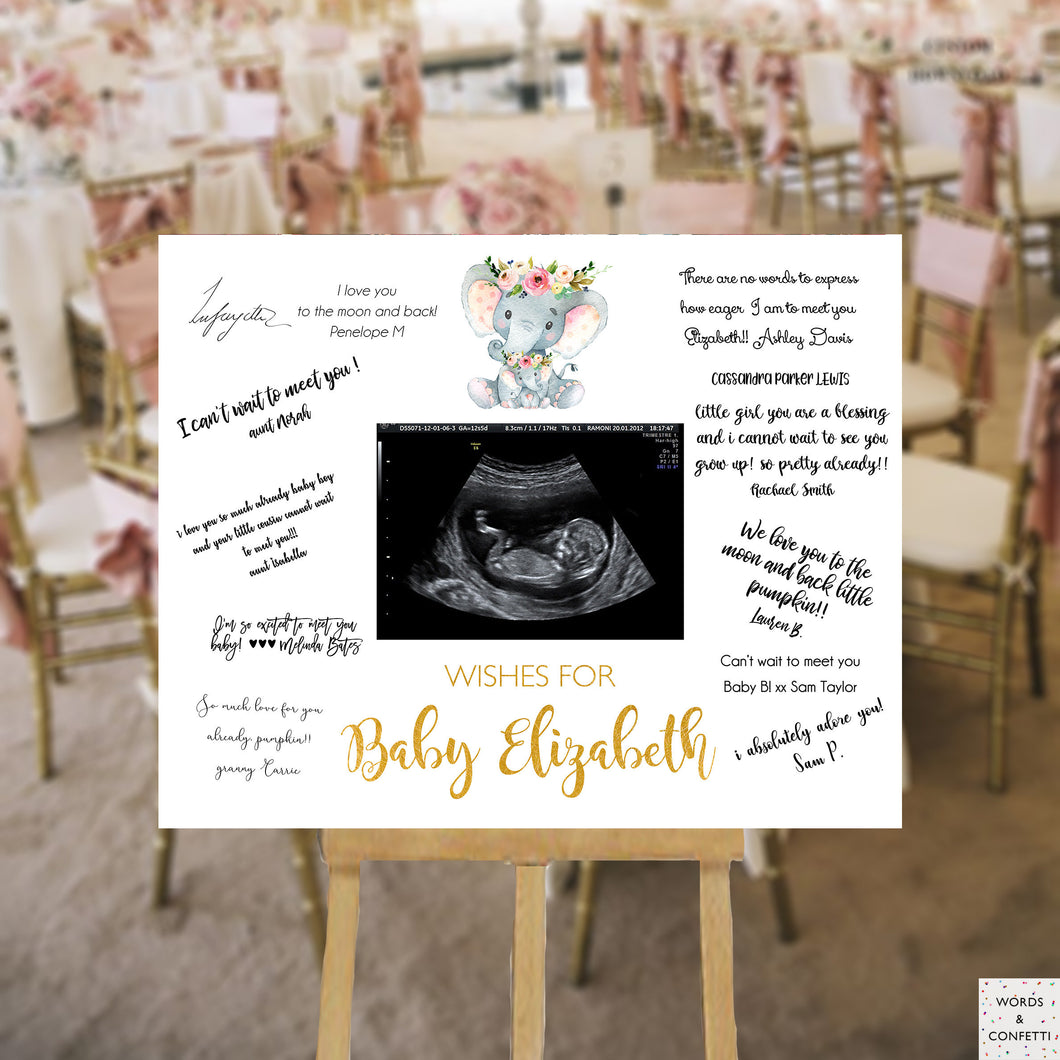 elephant-baby-shower-guest-book-sign-girl-wordsandconfetti
