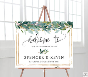 engagement-party-ideas-greenery-words-and-confetti