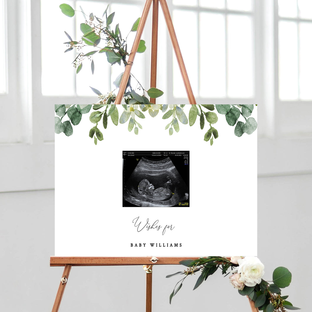 eucalyptus-baby-shower-decorations-guest-book-sign