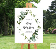 Load image into Gallery viewer, eucalyptus-baby-shower-decorations-words-and-confetti