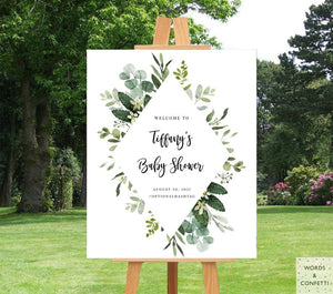 eucalyptus-baby-shower-decorations-words-and-confetti