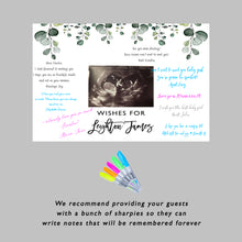 Load image into Gallery viewer, Greenery Baby Shower Guest Book Sign