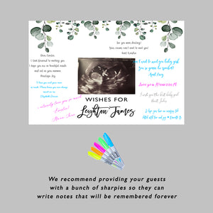 Greenery Baby Shower Guest Book Sign