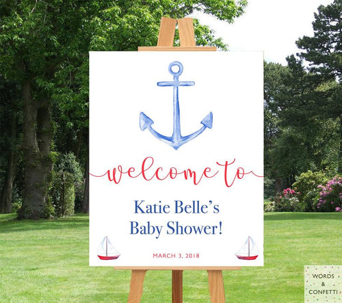 nautical-baby-shower-decorations-words-and-confetti