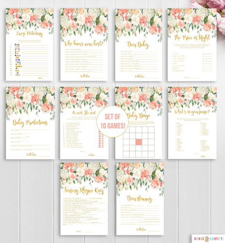 peach-and-gold-baby-shower-games-words-and-confetti
