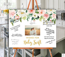 Load image into Gallery viewer, peach-baby-shower-guestbook-sign-words-and-confetti-etsy