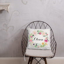 Load image into Gallery viewer, personalized-throw-pillow-wordsandconfetti