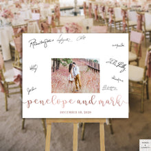 Load image into Gallery viewer, photo-wedding-guest-book-sign-rose-gold