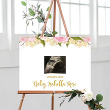 Load image into Gallery viewer, pink-and-gold-baby-shower-decorations-guestbook-sign