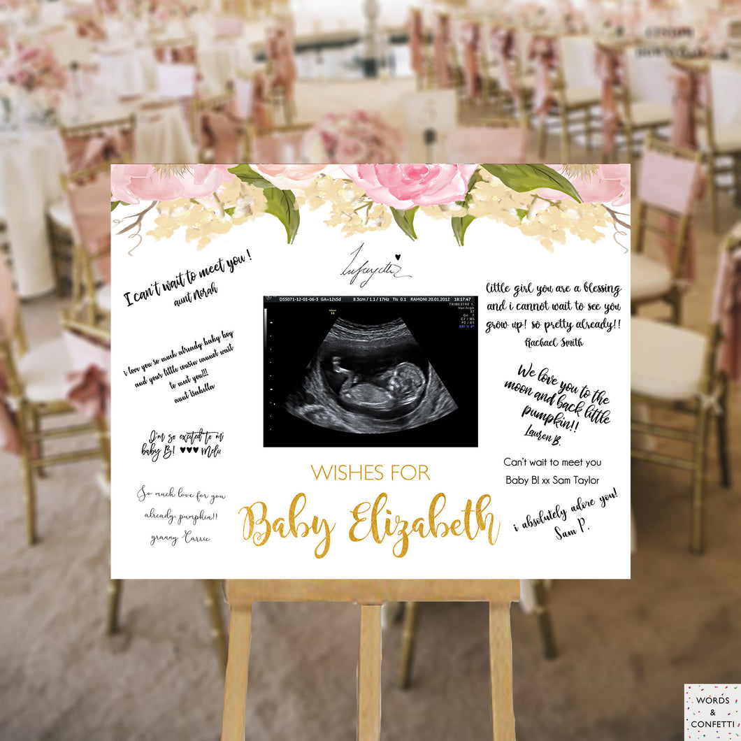pink-and-gold-baby-shower-guest-book-sign-wordsandconfetti