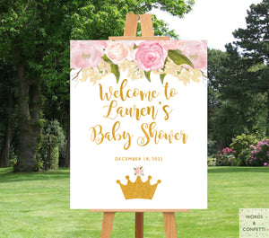 princess-baby-shower-ideas-pink-and-gold-wordsandconfetti