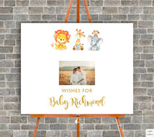 Load image into Gallery viewer, safari-baby-shower-guest-book-sign-wordsandconfetti
